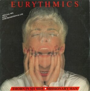 """2299 - Eurythmics - Thorn In My Side - Italy - Promo 12"""" Single - PT-40900"""
