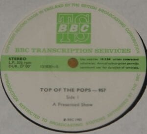 4252 - Eurythmics - Top Of The Pops - Show 957 - The UK - LP - Unknown