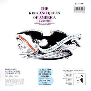 """4467 - Eurythmics - The King And Queen Of America - Spain - 12"""" Single - PT43400"""