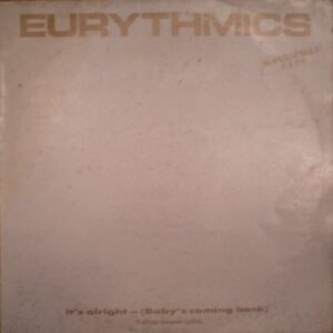 """4466 - Eurythmics - It's Alright (Baby's Coming Back) - Italy - 12"""" Single - PT-40376"""