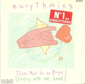 """4820 - Eurythmics - There Must Be An Angel (Playing With My Heart) - France - 7"""" Single - PB-40247"""