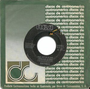 """4821 - Eurythmics - There Must Be An Angel (Playing With My Heart) - El Salvador - 7"""" Single - RUS-117"""