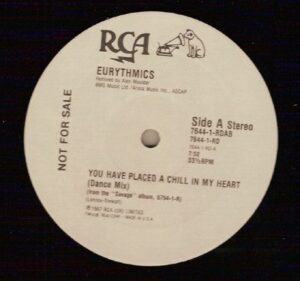 """4841 - Eurythmics - You Have Placed A Chill In My Heart - The USA - Promo 12"""" Single - 7644-1-RDAB"""
