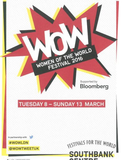 Programme : 2016-03-08 – Annie Lennox – Women Of The World Festival 2016 from The UK ID: 1745
