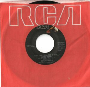 """0921 - Eurythmics - You Have Placed A Chill In My Heart - The USA - 7"""" Single - 7615-7-R"""