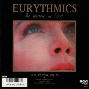 """1375 - Eurythmics - The Miracle Of Love - Japan - Promo 7"""" Single - RPS-230"""