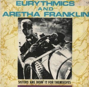 """1383 - Eurythmics - Sisters Are Doin' It For Themselves - South Africa - 7"""" Single - PD2418"""
