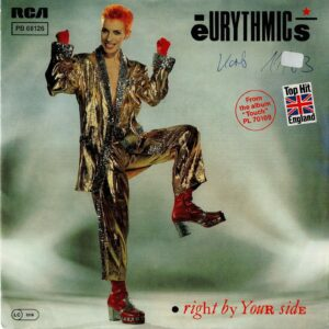 """2269 - Eurythmics - Right By Your Side - Germany - Promo 7"""" Single - PB-68126"""