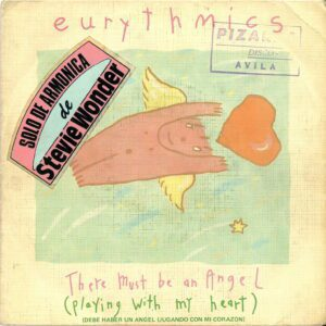 """3238 - Eurythmics - There Must Be An Angel (Playing With My Heart) - Spain - 7"""" Single - PB-40247"""