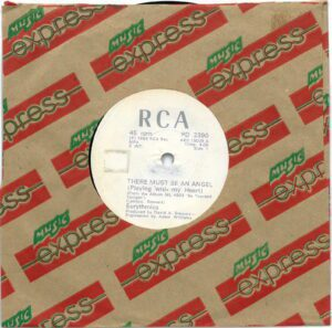 """3795 - Eurythmics - There Must Be An Angel (Playing With My Heart) - Zimbabwe - 7"""" Single - PD2390"""