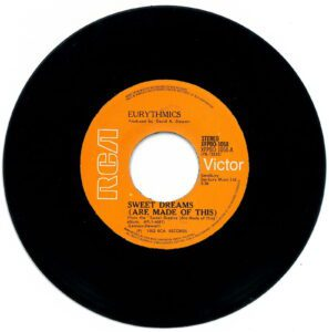 """3805 - Eurythmics - Sweet Dreams (Are Made Of This) - The Philippines - 7"""" Single - XFPBO-1058"""