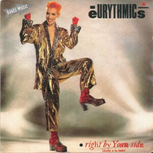 """0069 - Eurythmics - Right By Your Side - Spain - Promo 7"""" Single - PB-68126"""