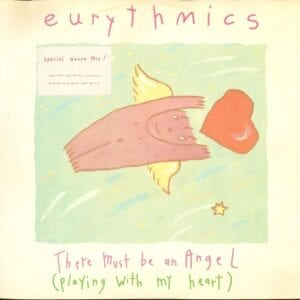 """0225 - Eurythmics - There Must Be An Angel (Playing With My Heart) - The UK - 12"""" Single - PT-40248R"""