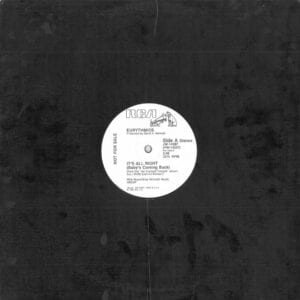 """0228 - Eurythmics - It's Alright (Baby's Coming Back) - The USA - Promo 12"""" Single - JW-14287"""