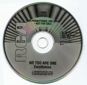 0466 - Eurythmics - We Too Are One - The UK - Promo CD - RCAPROMO01