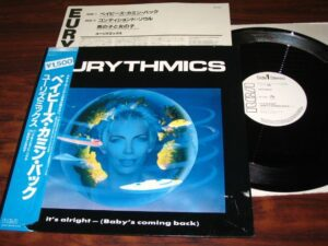 """0670 - Eurythmics - It's Alright (Baby's Coming Back) - Japan - Promo 12"""" Single - RPS-1019"""