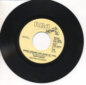 """0755 - Eurythmics - Sweet Dreams (Are Made Of This) - The USA - 7"""" Single - JH-13533"""