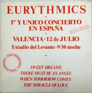 """0766 - Eurythmics - Sweet Dreams (Are Made Of This) - Spain - Promo 12"""" Single - ESP640"""