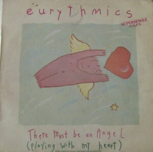 """0837 - Eurythmics - There Must Be An Angel (Playing With My Heart) - Spain - 12"""" Single - PT-40248"""