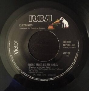 """0838 - Eurythmics - There Must Be An Angel (Playing With My Heart) - Germany - 12"""" Single - PT-40248R"""
