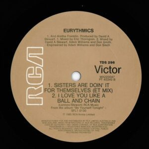 """1308 - Eurythmics - Sisters Are Doin' It For Themselves - Australia - 12"""" Single - TDS296"""