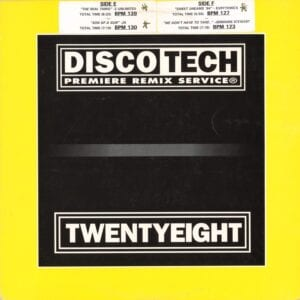 """1779 - Eurythmics - Sweet Dreams (Are Made Of This) - The USA - Promo 12"""" Single - DISCOTECH Issue 28"""