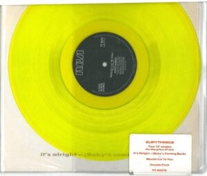 """1870 - Eurythmics - It's Alright (Baby's Coming Back) - The UK - 12"""" Single Doublepack - PT-40376"""