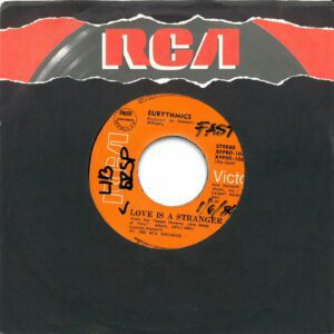 """2046 - Eurythmics - Love Is A Stranger - The Philippines - 7"""" Single - XFPBO-1066"""