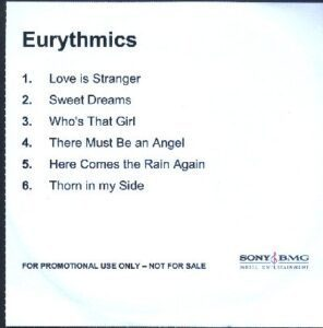 2310 - Eurythmics - The Ultimate Collection - The UK - Promo CD - CDR
