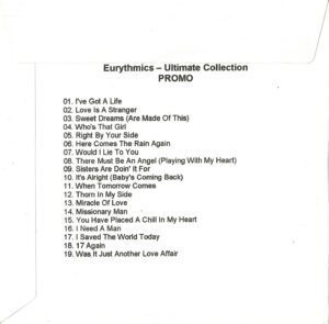 2336 - Eurythmics - The Ultimate Collection - The UK - Promo CD - CDR