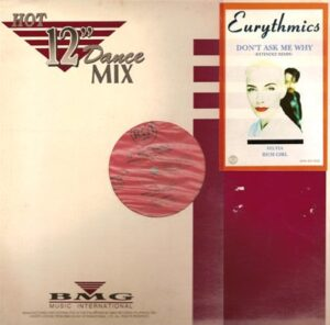 """3722 - Eurythmics - Don't Ask Me Why - The Philippines - 12"""" Single - EPR-89-025"""
