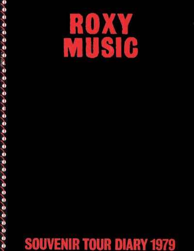 Programme : 1979-05-02 – The Tourists – Roxy Music Souvenir Tour Diary 1979 from The UK ID: 2379