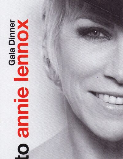 Programme : 2009-12-01 – Annie Lennox – The British Red Cross Tribute To Annie Lennox from The UK ID: 2643