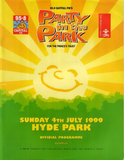 Programme : 1999-07-04 – Eurythmics – Party In The Park from The UK ID: 2383