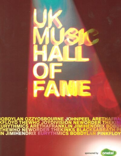 Programme : 2005-11-16 – Eurythmics – UK Music Hall Of Fame from The UK ID: 2400