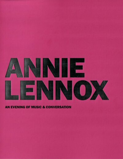 Programme : 2018-03-04 – Annie Lennox – An Evening Of Music & Conversation from The UK ID: 2357