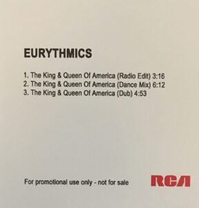 5643 - Eurythmics - The King And Queen Of America - The UK - Promo CD Single - Unknown