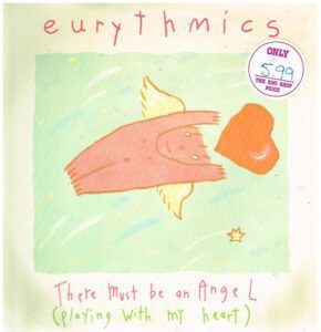 """5715 - Eurythmics - There Must Be An Angel (Playing With My Heart) - New Zealand - 12"""" Single - TDS282"""