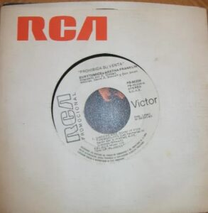 """6205 - Eurythmics - Sisters Are Doin' It For Themselves - Spain - Promo 7"""" Single - PB-40339"""
