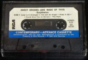 6218 - Eurythmics - Sweet Dreams (Are Made Of This) - The USA - Promo Cassette - None
