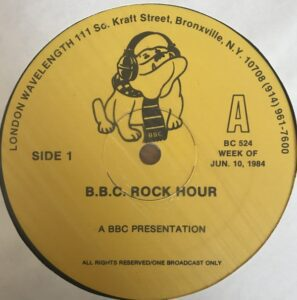 6222 - Eurythmics - BBC Rock Hour - The British Invasion Special - The USA - LP - BC524
