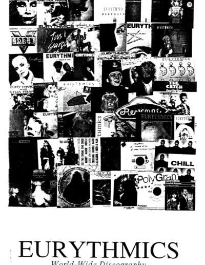 1990-11-01 – Eurythmics – Eurythmics World Wide Discography from  France ID: 2675