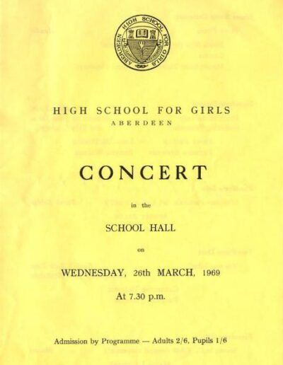 Programme : 1969-03-26 – Annie Lennox – High School For Girls School Concert from The UK ID: 2667