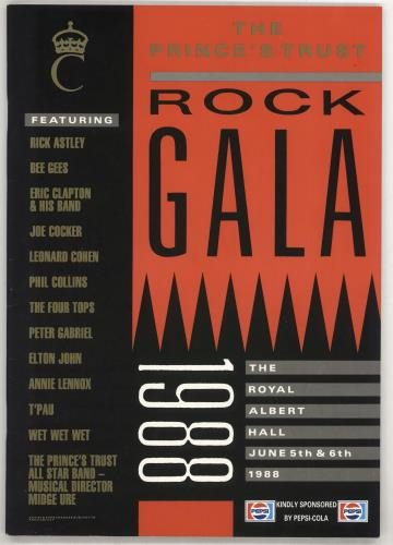 Programme : 1988-06-05 – Annie Lennox – The Princes Trust Rock Gala 1988 from The UK ID: 2660