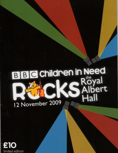 Programme : 2009-11-12 – Annie Lennox – Children In Need Rocks The Royal Albert Hall from The UK ID: 2674