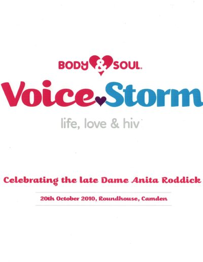 Programme : 2010-10-20 – Annie Lennox – Voice Storm from The UK ID: 2417
