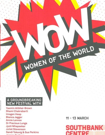 Programme : 2011-03-11 – Annie Lennox – Women Of The World Festival 2011 from The UK ID: 1600