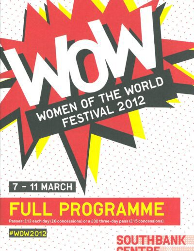 Programme : 2012-03-07 – Annie Lennox – Women Of The World Festival 2012 from The UK ID: 1637