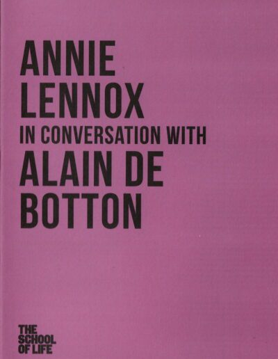 Programme : 2018-09-19 – Annie Lennox – Annie Lennox In Conversation with Alain De Botton from The UK ID: 2646