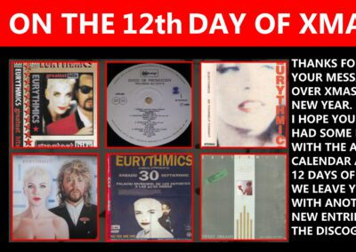 On The Twelfth Day of Christmas, The Ultimate Eurythmics Website Gave To Me : Another big discography update